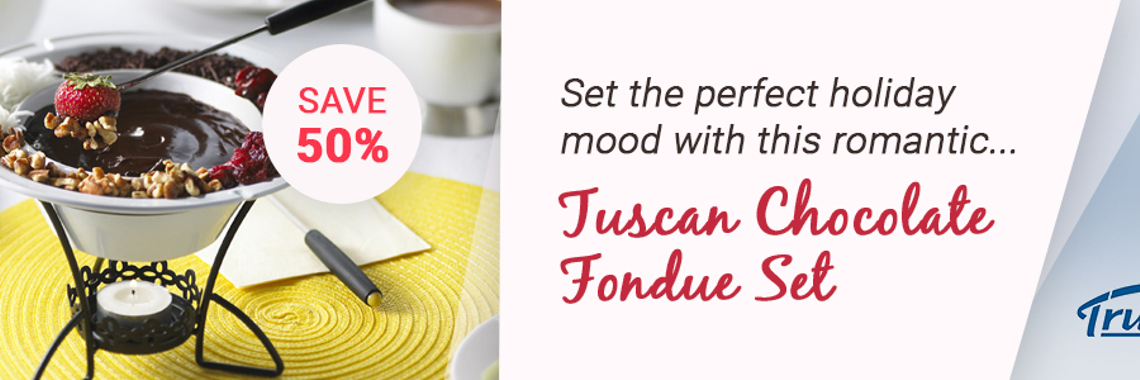 Tuscan Chocolate Fondue Set
