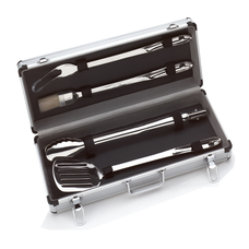4 Piece BBQ Tool Set with Case