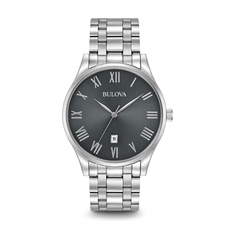 Men's Classic Stainless Steel Watch - BLACK