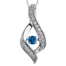 Necklace with Diamonds and Sapphire