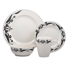 16-Piece Stoneware Dinnerware - Windflower Collection