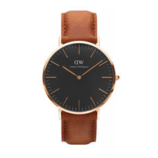 Men's Classic Black Durham Watch - ROSE GOLD