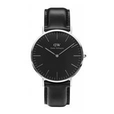 Men's Classic Black Sheffield Watch - SILVER