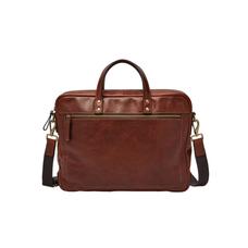 Men's Fossil Defender Briefcase - BROWN