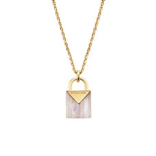 14K Gold-Plated Sterling Silver Lock Necklace