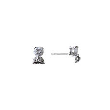 Whimsical Owls Stud Earrings with Zirconia Crystals