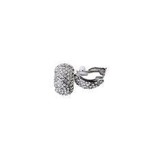 Crystal Pave Half Hoop Clip-On Earrings