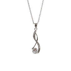Twisted Infinity Pendant Necklace