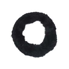 Nantes Rabbit Fur Scarf - BLACK
