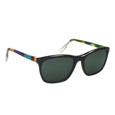 Ronit's Hand-Painted Classic Black/Multi-Colored Sunglasses