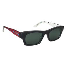 Ronit's Hand-Painted Black/Red/White Sunglasses