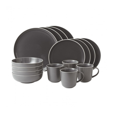 Gordon Ramsay Bread Street 16 Piece Dinner Set - SLATE GREY
