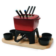 Mont Blanc 15-Piece Cast Iron Fondue Set