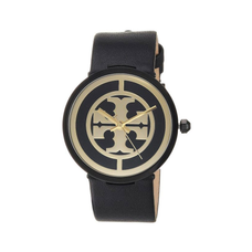 Reva Watch Black Leather/Stainless Steel