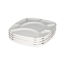 Set of 4 square fondue plates