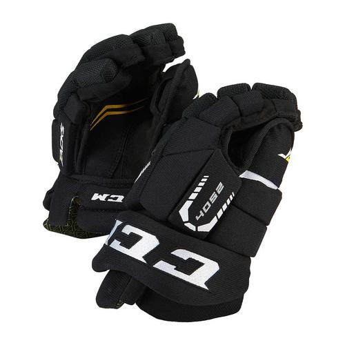 CCM Junior Hockey Gloves - BLACK & RED