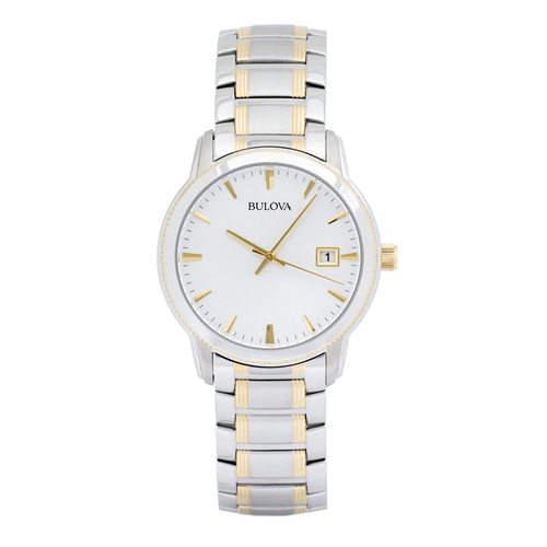Men's Date Stainless Steel Watch - TWO-TONE