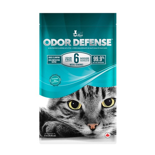12 kg Cat Love Odor Defense Unscented Clumping Litter - Cat