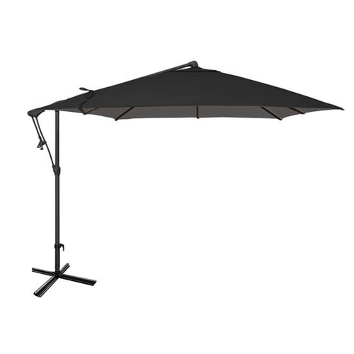 Black Garden Umbrella in 259 cm Square Shape