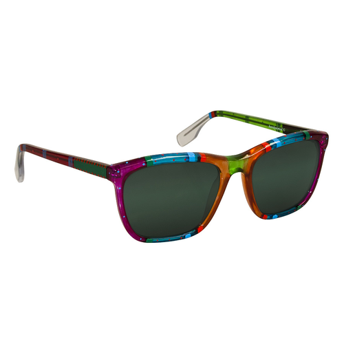 Ronit's Hand-Painted Multicolored Sunglasses